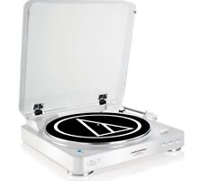 Audio Technica AT-LP60BT  White  Bluetooth Turntable
