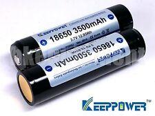 Keeppower NCR18650GA 3500 mAh Li-ion Rechargeable Protected Battery x2 Sanyo