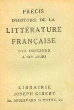 Précis d'Histoire de la Littérature française des origines à nos jours / 1 ère E