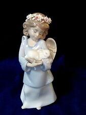 Lladro #6856 Heavenly Love Brand New In Box Girl Angel Bunny Religion Save$ F/Sh