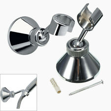 Modern Bathroom Adjustable Chroming Hose Shower Head Bracket Handset Holder Wall