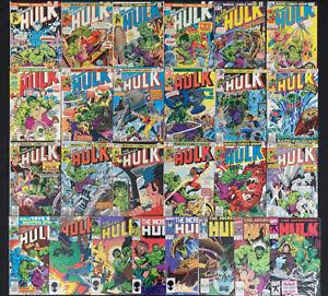 Incredible Hulk (Vol.1) comic lot of 26 (Marvel 1975) Bronze Age Avg. 7.5 VF-