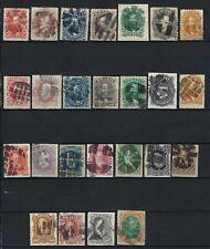 B&D:1866-1878 Brazil Scott 53-78 Dom Pedro stamp sets used w/fancy cork cancels