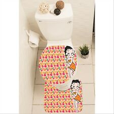 Betty Boop Set of 3 Bathroom Rug Set Mat Toilet Lid Cover y70 w0028