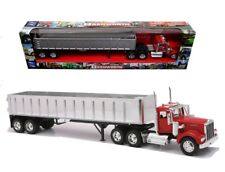 NEWRAY TOYS 1/32 TRAILER KENWORTH W900 FRAMELESS DUMP TRUCK CHROME TRAILER 13773