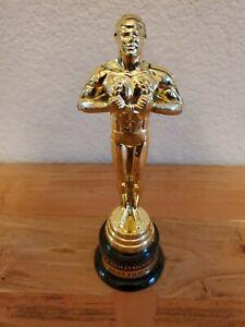 OSCAR TROPHY HOLLYWOOD BEST FRIEND Pre-owned 7 1/2 in gold/black. USPS
