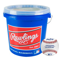 Rawlings R12U Official League Baseballs With Bucket (2 DZ)