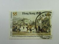 Hong Kong SC #489 A VIEW OF WELLINGTON STREET Used stamp