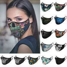 Washable Reusable Face Mask Covering Sugar Skull Day Of The Dead Sexy Ladies Men