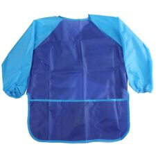 Kids Waterproof Craft Apron for Drawing Painting Cooking Smock W/ 3 Pockets U3P4