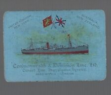 Swap Playing Cards 1 VINT WIDE COMMONWEALTH & DOMINION LINE  SHIPPING  LINE S68