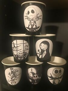 12 The Nightmare Before Christmas Movie Birthday Party Paper Cups - BLACK