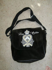 Juicy Couture Laptop Shoulder Messenger Diaper Bag Crossbody Bookbag Velvet Logo