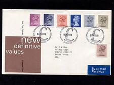 1983 Britain Edinburgh New Difinitive Values Fdc 21214