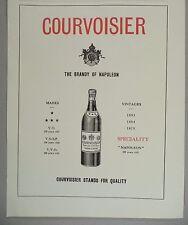 Courvoisier Brandy PRINT AD - 1928 ~~ Napoleon