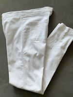 NMNM Womens Jeggings Jeans - White Skinny Fit Cotton Blend Stretch UK Size 10-12