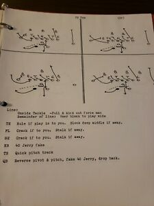 Vintage 3 Ring Binder MEAD W/FOOTBALL PLAYS 1986 (GRANDVIEW WA PLAYBOOK)