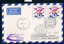 67361) LH FF Frankfurt - Dubai VAE 25.10.98, Karte Bund MeF 1789 Politik