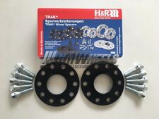 2 x 8mm Black H&R Alloy Wheel Spacers Silver Bolts - Seat Ibiza (2002 - Present)