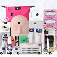 19in1 False Eyelashes Training Mannequin MakeUp Extension Glue Tool Practice Kit