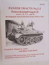 Book: Panzer Tracts No. 2-2 Panzerkampfwagen II Ausf. G,H,J, L, and M