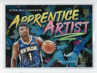 2019-20 Zion Williamson Panini Court Kings Rookie RC Apprentice Artist #9