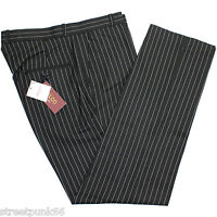 Relco Mens Stay Press Classic Pinstripe Trousers Sta Press Retro Mod Skin Ska
