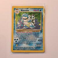 Blastoise Holo Rare Shiny Original Base Set 2/130 Pokemon Card WOTC TCG 1999