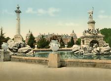 Aranjuez. Fuente de Hercules y Palacio eal. PZ vintage photochromie photochrom