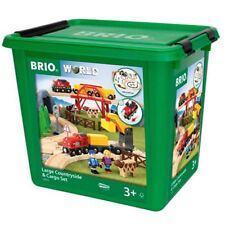 BRIO Bahn Großes Countryside & Cargo Set Holzeisenbahn Eisenbahn Spielzeug 33934
