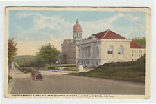 Augustana Blvd, Denkmann Memorial Library, Rock Island IL c. 1915 Illinois