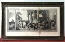 THE PRODIGAL SON. ENGRAVING. PAPER. SPAIN (?).19TH CENTURY