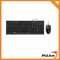 NEW Rapoo NX1710 USB Keyboard Mouse Combo with Media Key Optical 1000 DPI Wired