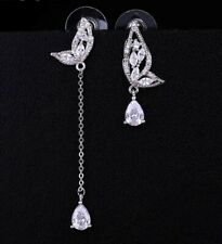 - Nos ❤ - Mariposa cubic zirconia gota aretes Swarovski Crystal Style y Stud