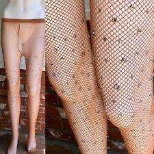 Vtg Danskin Prong Set Rhinestone Dance Fishnet Stockings Burlesque As Is Size C