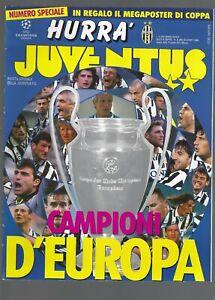 HURRA' JUVENTUS speciale giugno 1996 Campioni d'Europa