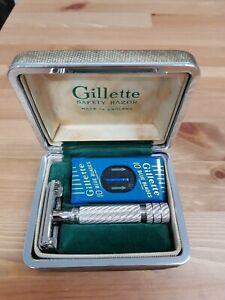 1953 Gillette #66 Aristocrat Made in England Razor Used