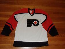 Ccm Maska Philadelphia Flyers Long Sleeve Hockey Jersey Mens Medium Excellent