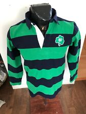 MENS  Large Rugby Jersey Barbarian Green Blue Notre Dame NEW NWT