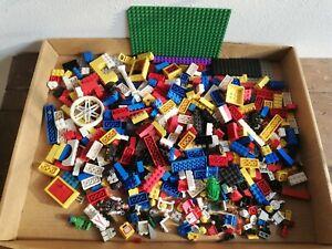LEGO Lotto 1 Kg Mattoncini Misti Technic Piattaforma Basi Usati Vintage