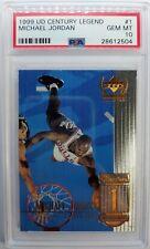 Rare: 1999 Upper Deck Michael Jordan Century Legends #1 PSA 10, Pop 17