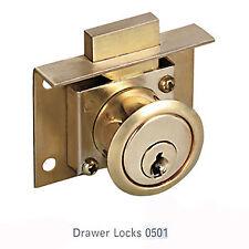 Wren Bird 0501 Brass Drawer Lock Cabinet Box Drawer Lock Desk Lock