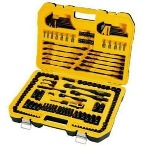 DEWALT 184 Piece Mechanics Tool Kit Spanner Socket Ratchet Set