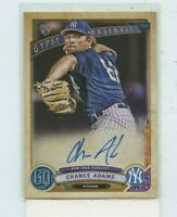 CHANCE ADAMS 2019 Topps Gypsy Queen Auto Autograph #GQA-CA Rookie