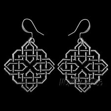 HARMONY KNOT Oberon Design EARRINGS Pewter nickel-free hooks celtic diamond ER19