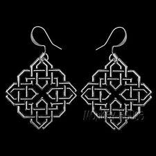HARMONY KNOT Oberon Design EARRINGS Pewter nickel-free hooks celtic diamond ER19