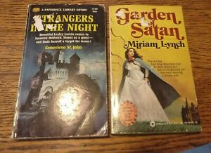 2 1960/70s Gothic Paperback Books Garden Of Satan & Strangers In The Night