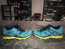 Mizuno Wave Inspire 10 Womens Running Training Shoes Size 7 Blue Yellow Black