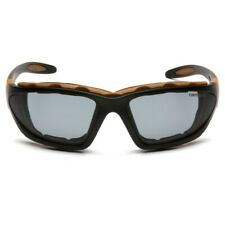 Carhartt CHB420DTP Carthage Safety Glasses Black/Tan Frame Gray Anti-Fog Lens