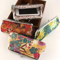 Women Floral Vintage Clutch Wallet Purse Lady Long Handbag Coin Bag Cards Holder